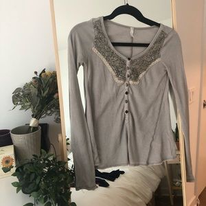 Free People Long sleeves top